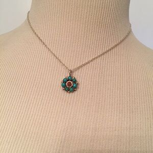Jewelry - 🌺 NECKLACE VINTAGE FLOWER PENDANT STERLING CHAIN